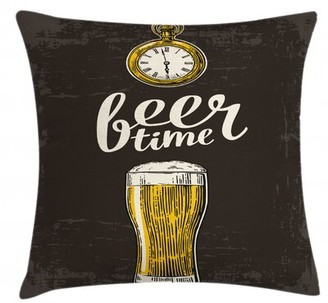 "East Urban Home Beer Time Indoor / Outdoor 26"" Throw Pillow Cover"