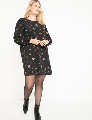 ELOQUII Puff Sleeve Easy Tee Dress