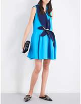 DELPOZO Leaves cotton mini dress
