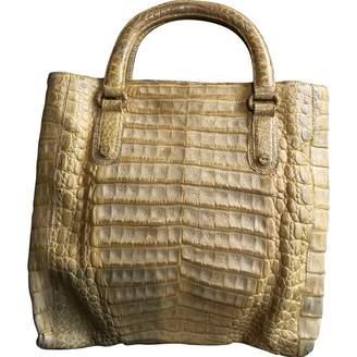 Nancy Gonzalez Yellow Crocodile Handbags