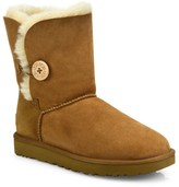 UGG Bailey Button II Sheepskin-Lined Suede Boots