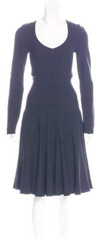 Alaia Midi Fit and Flare Dress