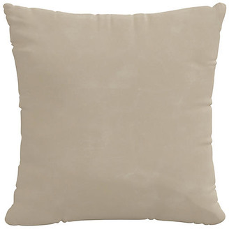 One Kings Lane Sonoran Faux-Leather Pillow - Taupe