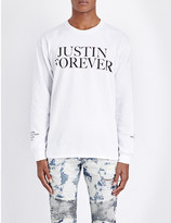 Justin Bieber Purpose Tour Justin Forever cotton-jersey top