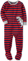 Carter's 1-Pc. Striped Dinosaur Footed Pajamas, Baby Boys (0-24 months)