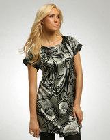 Nouveau Silk Print Pleat Tunic