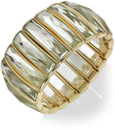 INC International Concepts Gold-Tone Crystal Baguette Stretch Bracelet