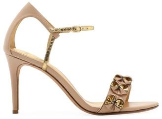 Alexandre Birman Nelly Python Ankle Strap Sandals