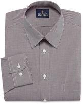 STAFFORD Stafford Travel Performance Super Shirt Long Sleeve Woven Gingham Dress Shirt