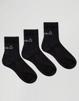 Reebok 3 Pack Socks With Logo