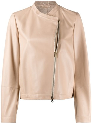 Brunello Cucinelli collarless boxy-fit jacket