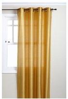 "Tribeca Stylemaster 56 x 108"" Faux Silk Grommet Panel, Saffron"