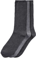 Joe Fresh Men's 3 Pack Ribbed Socks