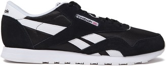 Reebok Faux-leather And Suede-trimmed Mesh Sneakers