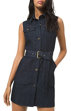MICHAEL Michael Kors Denim Belted Mini Dress