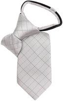 Calvin Klein Little Boys' Etched Grid Zipper Tie