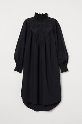 H&M Embroidered-detail Tunic - Black