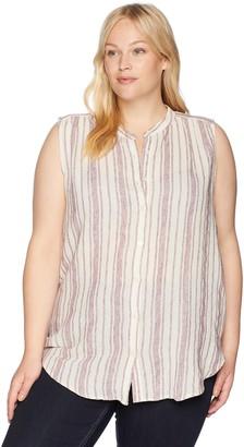 Lucky Brand Women's Size Plus Stripe Tunic TOP