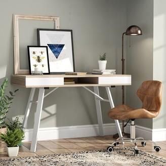 Laurèl Salcedo Writing Desk Foundry Modern Farmhouse Top Finish: Oak