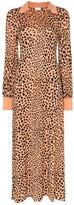 Rixo Piper leopard-print midi dress