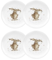 """Royal Worcester Wrendale Rabbit Plate """"Hare Brained"""" - Set of 4"""