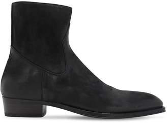 Alberto Fasciani 35mm Zip-up Buffalo Leather Boots