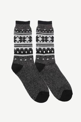 Ardene Fair Isle Crew Socks