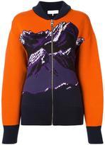 Emilio Pucci mountainscape printed cardigan - women - Polyamide/Viscose/Virgin Wool - M
