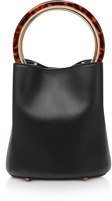 Marni Calfskin Pannier Bag W/ Design Handle
