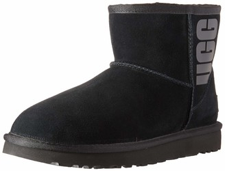 UGG Women's Classic Mini Rubber Logo Fashion Boot