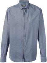 Giorgio Armani striped zip up shirt - men - Silk/Cotton/Polyamide - 42