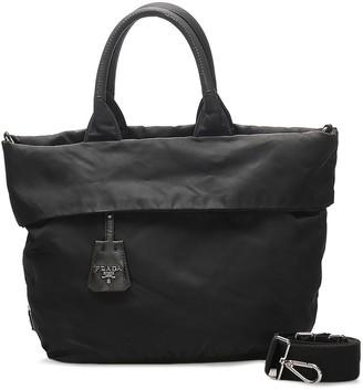 Prada Pre-Owned Turn-Up Detailing Two-Way Bag