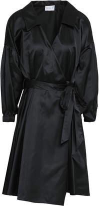 Milly Satin Mini Wrap Dress