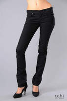 7 For All Mankind Straight Leg Jeans in Black Black