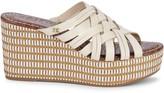 Sam Edelman Devon Leather Wedge Sandals