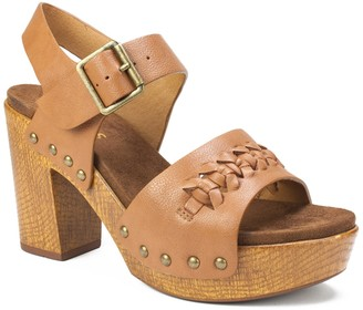 White Mountain Footwear Altheda Block Heel Platform Sandal