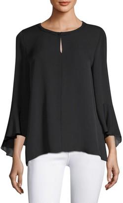 Kobi Halperin Shia Bell Sleeve Silk Blouse
