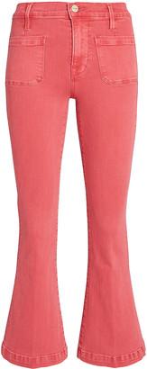 Frame Le Bardot Crop Flare Jeans