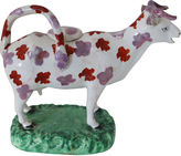 One Kings Lane Vintage Early Staffordshire Luster Cow Creamer