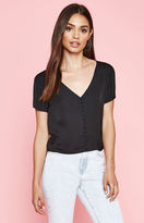 KENDALL + KYLIE Kendall & Kylie Short Sleeve Button Down Top
