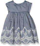 Mamas and Papas Baby Girls' Chambray Emb Drs Dress,6-9 Months