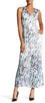 Komarov Sleeveless Printed Maxi Dress