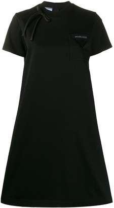 Prada bow detail T-shirt dress