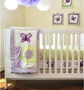 Pam Grace Creations BDNB-LAV Lavender Butterfly 10 Piece Crib Set - purple