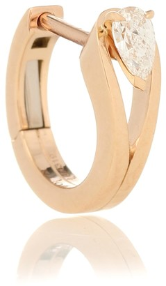 Repossi Serti Inverse XS 18kt rose gold single earring with diamond
