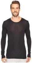 Hanro Woolen Silk Long Sleeve Shirt Men's Clothing