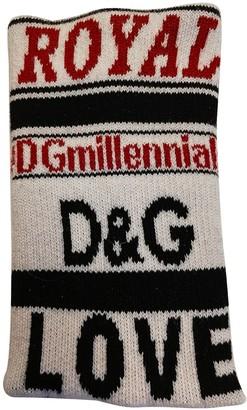 Dolce & Gabbana Beige Cotton Gloves
