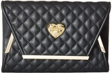 Love Moschino Envelope Clutch with Gold Detailing Clutch Handbags