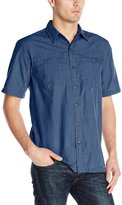 Arrow Men's Short Sleeve Seaside Textured Solid Shirt