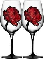 Kosta Boda Tattoo Wine Glasses, Set of 2